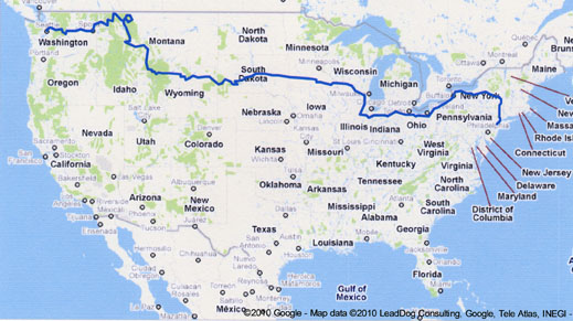 My route for Cycle for Dystonia 2010.
