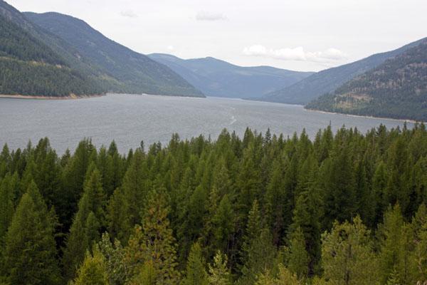 Waters of Lake Koocanusa.