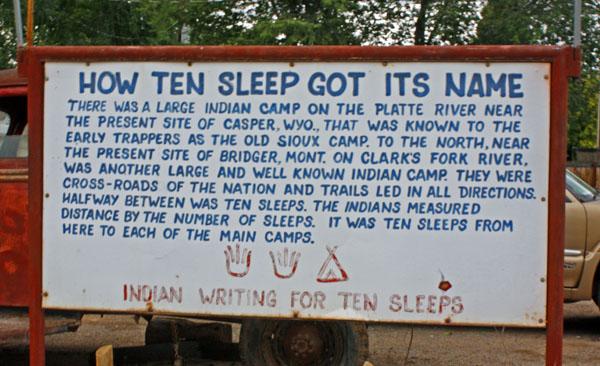 ten sleep every county