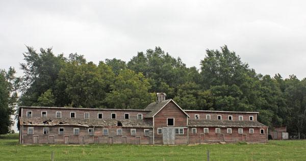 A derelict barn near Lamberton, Minnesota.