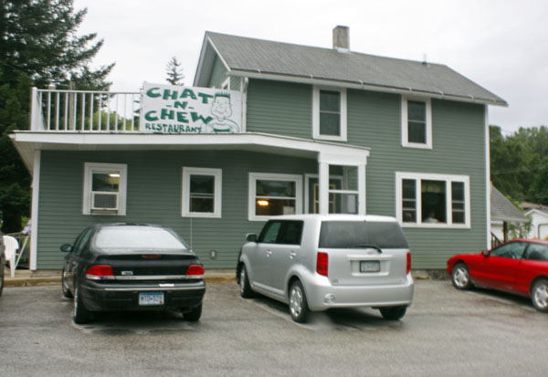 We start our day at the Chat-N-Chew in Lanesboro, Minnesota.