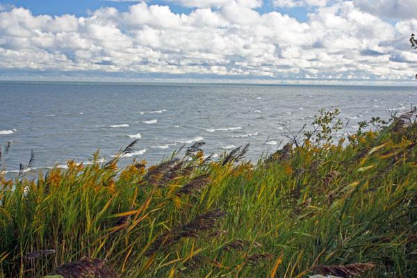 Whitecaps on Lake Erie.