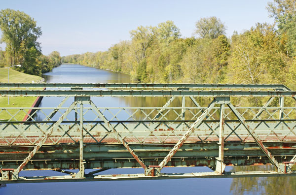 A bridge over the Erie Barge Canal.