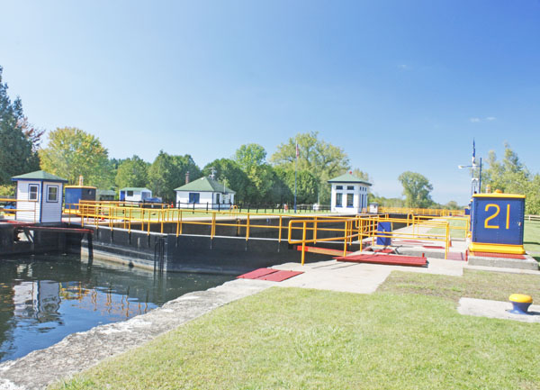 Erie Barge Canal Lock 21.