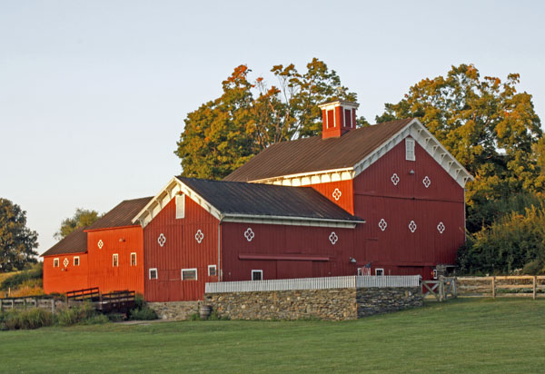 A decorative barn in Rhinebeck, New York.