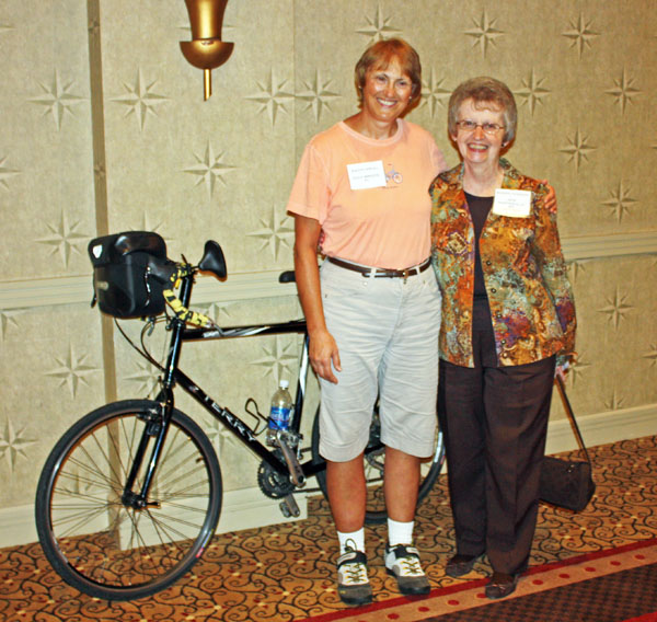 Kathy with Bonnie Hawkins, ST/Dystonia President.